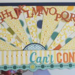 Can't Contain It – a Sketch to Scrapbook layout