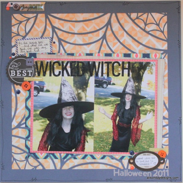 Wicked Witch a layout by Alison Day