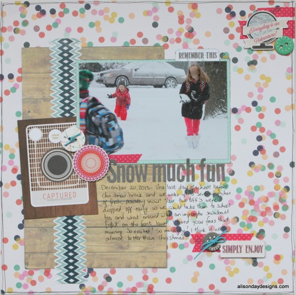 Snow Much Fun - a layout for Practical Scrappers