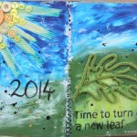 An Art Journal Page for Practical Scrappers