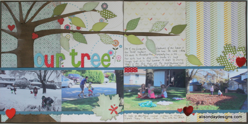 Our Tree by Alison Day - Scrap Diva Challenge #1
