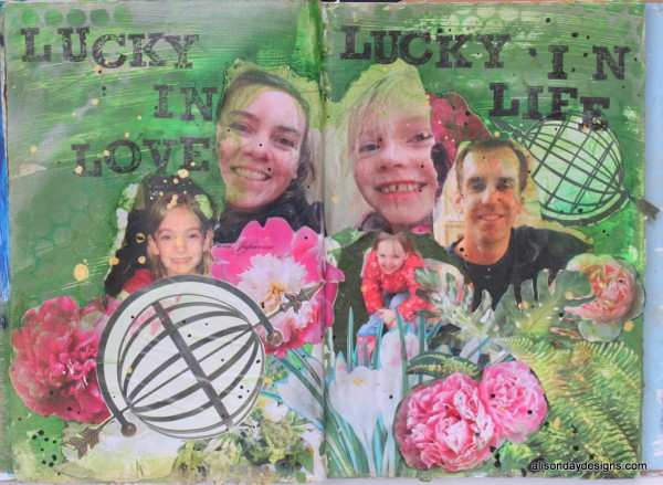 Art Journal page - Lucky by Alison Day for Practical Scrappers