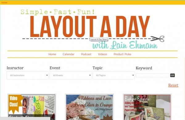Layout A Day Store Home Page