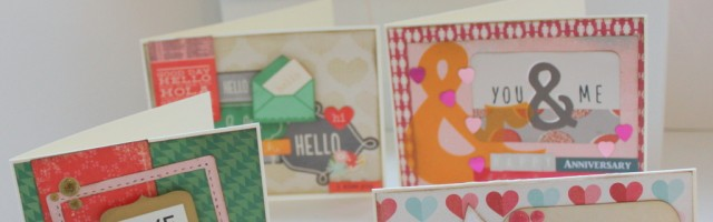 Cards by Alison Day made using Gossamer Blue kit leftovers
