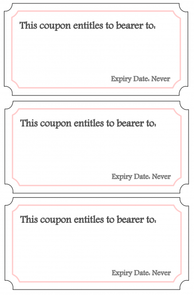Early Bird Coupon Book - Blanks