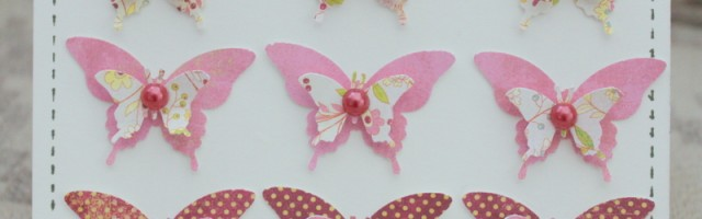 Ombre Butterfly Birthday card by Alison Day Designs