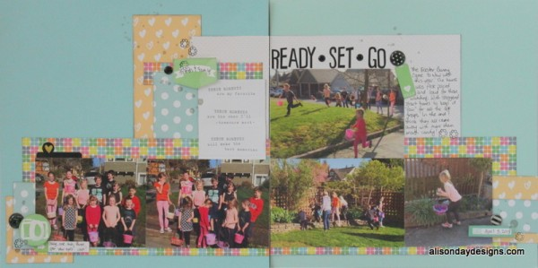 Ready Set Go a double page layout by Alison Day Designs