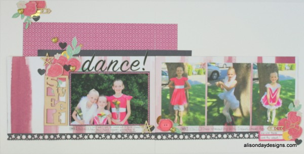 Dance! a double page layout by Alison Day Designs