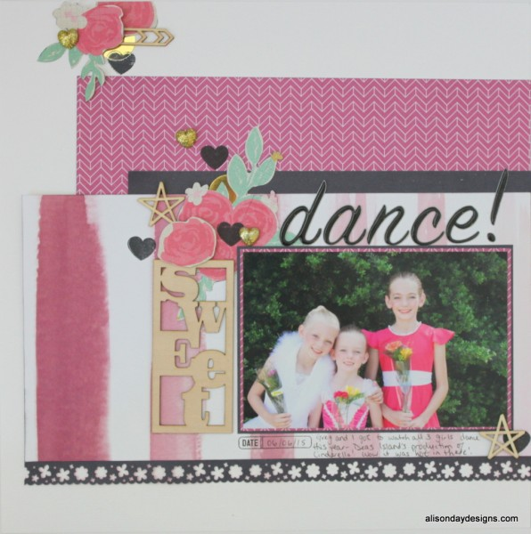 Dance - left page by Alison Day Designs