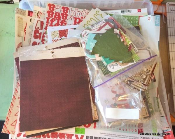 Pre-sort Christmas Stash of Alison Day Designs