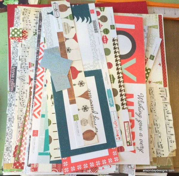 Christmas paper stash of Alison Day Designs
