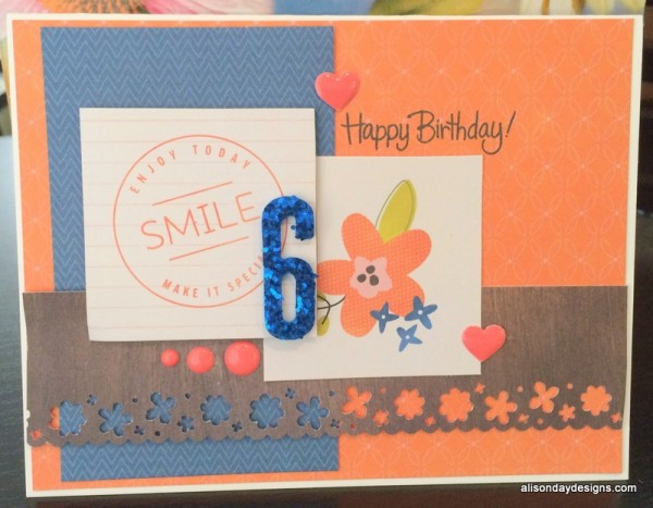 Happy 6 Birthday card by Alison Day Designs