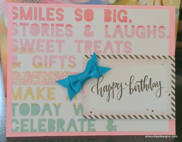 Simple Sophisticated Birthday Card by Alison Day Designs