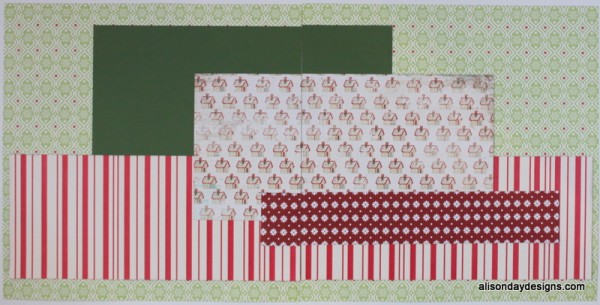Horizontal Steps Double Page Starting Point by Alison Day Designs