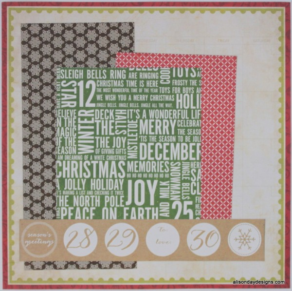 Calendar Page Starting Point by Alison Day Designs