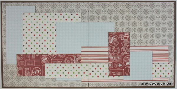 Layered Boxes Double Page Starting Point by Alison Day Designs
