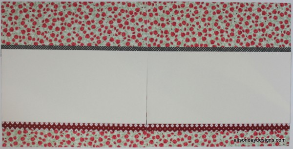 Simple Horizontal Double Page Starting Point by Alison Day Designs