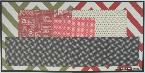 Fun Red and Green Chevron Double Page Starting Point by Alison Day Designs