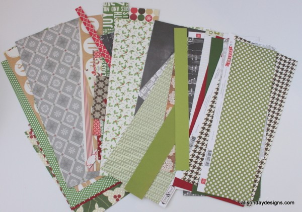 Remaining paper scraps by Alison Day Designs