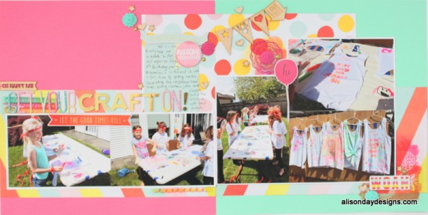 Get Your Craft On double layout by Alison Day Designs