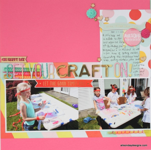 Get Your Craft On - left page by Alison Day Designs