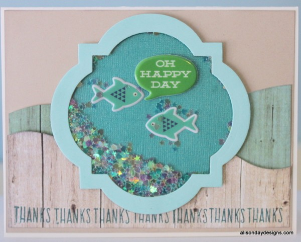 Fish bowl shaker card by Alison Day Designs