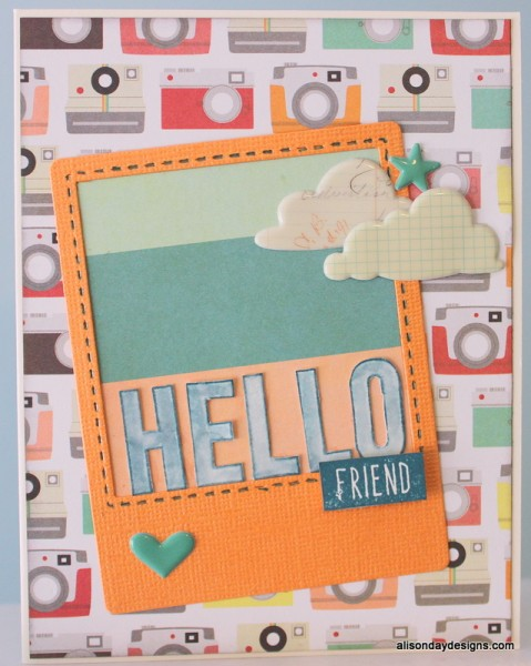 Hello Friend card by Alison Day Designs