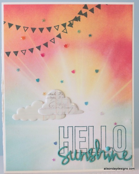 Hello Sunshine card by Alison Day Designs
