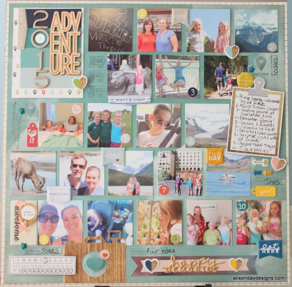 Happy Memories 2015 Adventure by Alison Day Designs