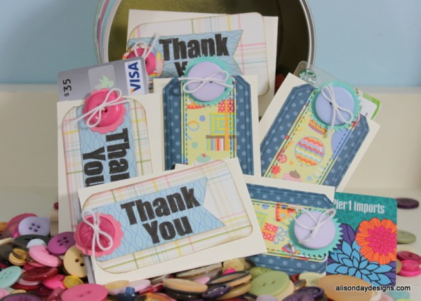 Etsy Shop Gift Card Sleeves by Alison Day Designs
