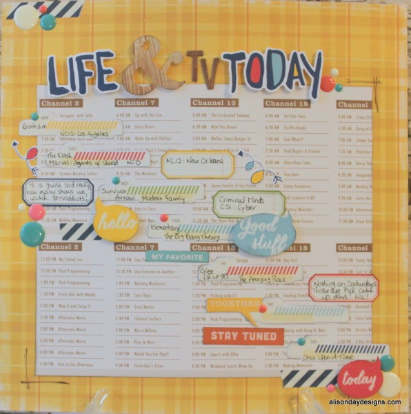 Life & TV Today by Alison Day Designs
