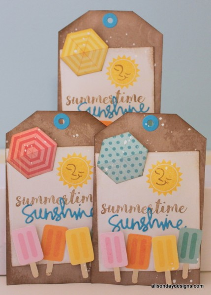 Scraphappy Summer 2015 Tag Swap tags by Alison Day Designs