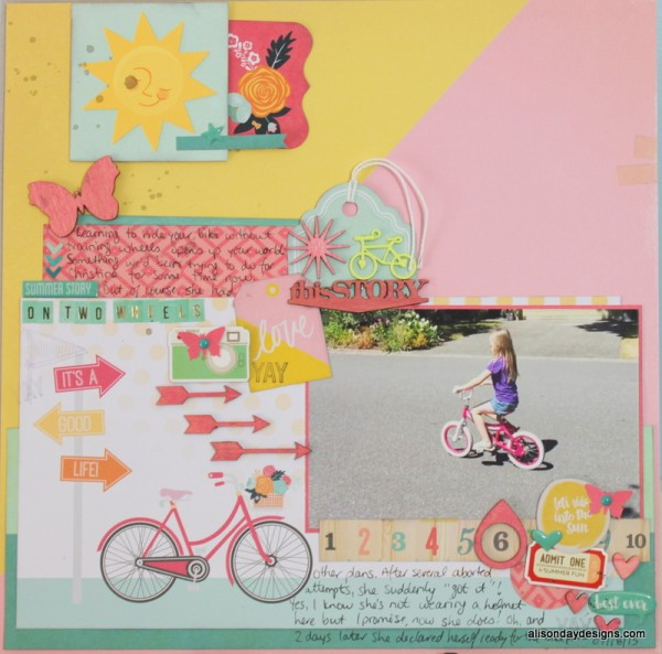 On Two Wheels by Alison Day Designs