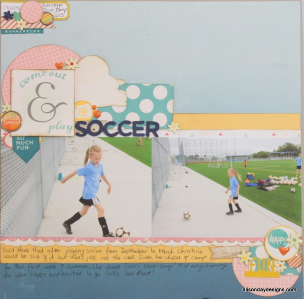 Come Out & Play Soccer by Alison Day Designs