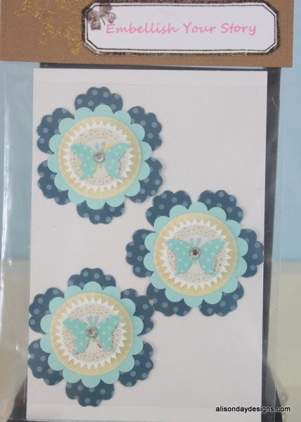 Large layered embellishment pack - blue - by Alison Day Designs