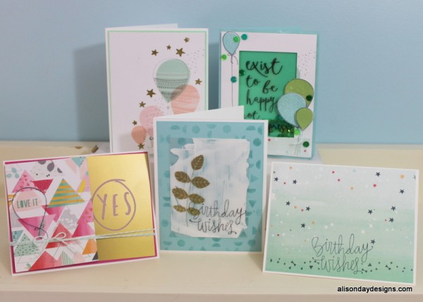 Cards by Alison Day Designs made with the September 2015 Simon Says Stamp kit
