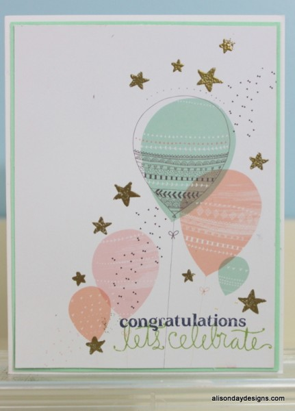 Congratulations Let's Celebrate card by Alison Day Designs