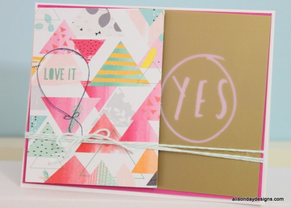 Love It card by Alison Day Designs