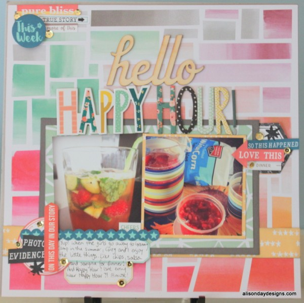 Hello Happy Hour by Alison Day Designs
