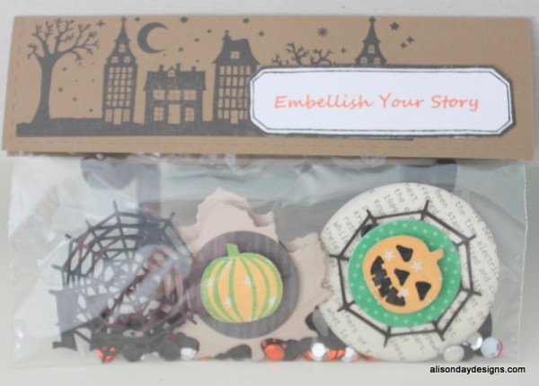 Halloween Embellish Your Story Snack Bags by Alison Day Designs