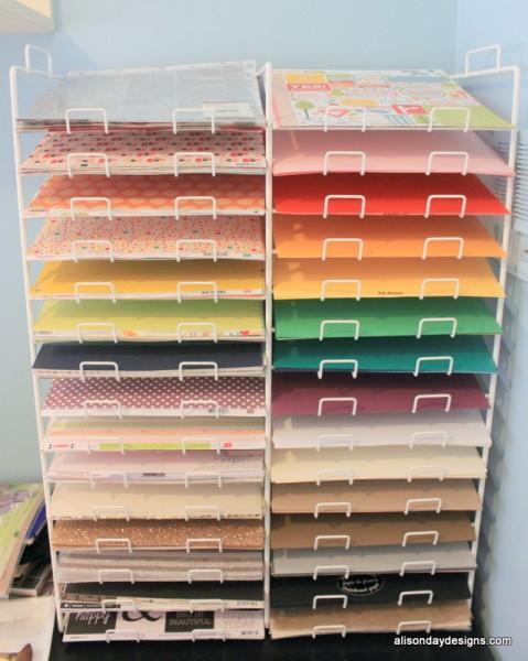 12x12 paper storage racks