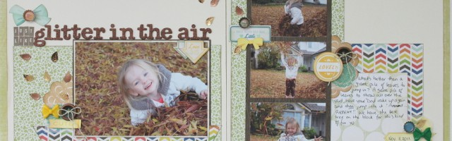 Just Like Glitter in the Air by Alison Day - double page