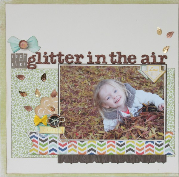 Left page of Glitter in the Air by Alison Day