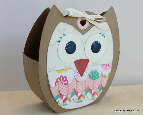 3D Owl Tote Bag by Alison Day Designs