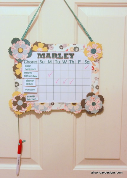 Personalized Chore Chart by Alison Day Designs