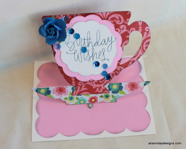 tea cup easel card