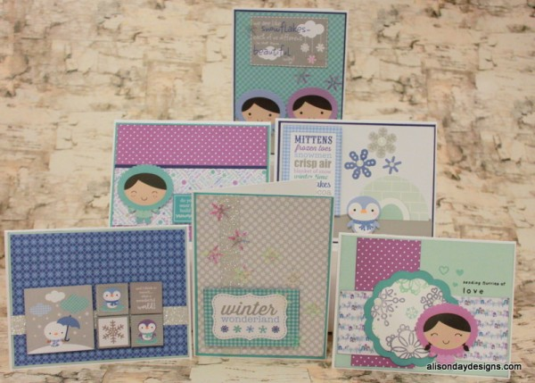 Winter Wonderland cards by Alison Day Designs