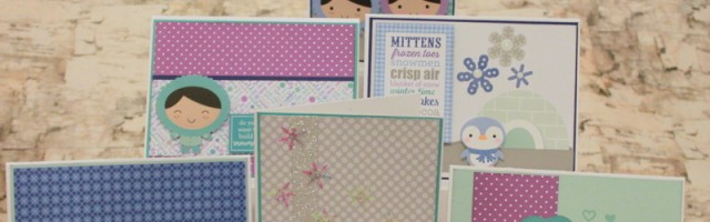 Winter Wonderland cards by Alison Day Designs