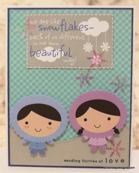 Unique as Snowflakes card by Alison Day Designs