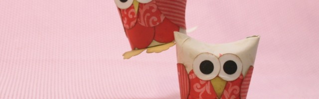 Owls from Toilet Paper rolls by Alison Day Designs